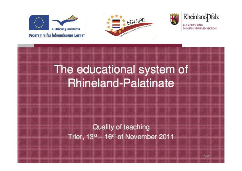 Educational system of Rhineland-Palatinate